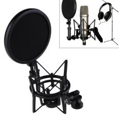 Jual Mikrofon Mic Profesional Shock Mount Dengan Pop Shield Filter Layar Intl Murah Di Tiongkok