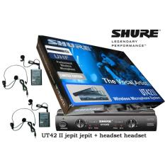 Microphone Mic wireless shure UT 42 ll UHF ( clip on + headset )