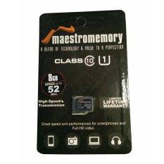 MicroSD 8GB Maestro Class 10 52MB/S - Memory HP