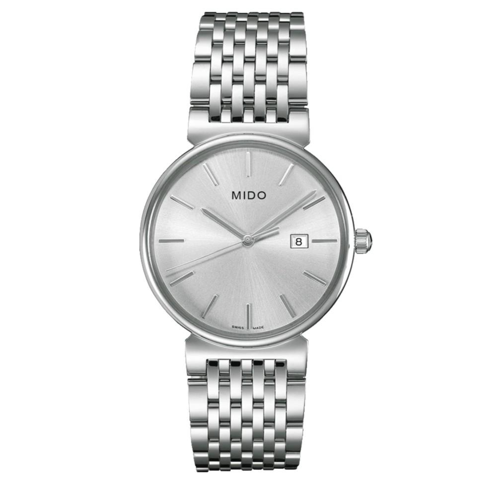 MIDO M009.610.11.031.00 - Dorada - Analog - Jam Tangan Pria - Bahan Tali Stainless Steel - Silver