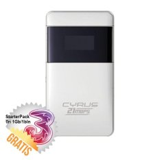 Harga Mifi Cyrus 21Mbps Putih Starter Pack Tri 1 Gb 1 Bulan Terbaik