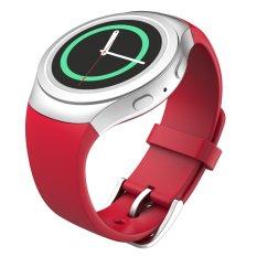 Miimall Silikon Lembut For Pengganti Olahraga Band Samsung Galaxy Gear S2 SM-R720/SM-R730 Cerdas Perhiasan (Merah)