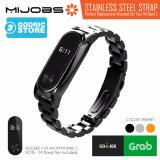 Toko Mijobs Metal Stainless Steel Wrist Strap Xiaomi Mi Band 2 Plus Original Hitam Termurah Di Dki Jakarta