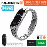 Beli Mijobs Metal Stainless Steel Wrist Strap Xiaomi Mi Band 2 Plus Original Silver Online Terpercaya