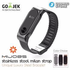 MIJOBS Milan Stainless Steel Wrist Strap Xiaomi Mi Band 2 Original - Hitam