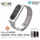 Harga Mijobs Milan Stainless Steel Wrist Strap Xiaomi Mi Band 2 Original Silver Fullset Murah