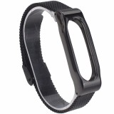 Jual Mijobs Replaceable Stainless Steel Wrist Strap For Xiaomi Mi Band 2 Smart Bracelet Black Mijobs
