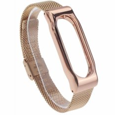 Jual Beli Mijobs Replaceable Stainless Steel Wrist Strap For Xiaomi Mi Band 2 Smart Bracelet Gold Indonesia