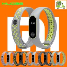 Mijobs Sporty Silicone Strap Mi Band 2 Replacement Case Tali Silikon Pengganti MiBand 2 Silicone