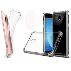 Mika AntiCrack Fuze Case Tahan Banting Untuk  Samsung Galaxy A7 2017 /A720 - Belakang Acrilic Keras - Pinggir Silicone Soft - Clear