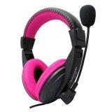Ulasan Tentang Mikrofon Headset Stereo Earphone Bando Game Pc Notebook Untuk Berwarna Merah Muda