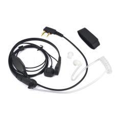 2 Jarum Akustik Tabung Lubang Suara PTT Mikrofon Earphone untuk Baofeng Radio Retevis (Putih)