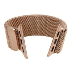Jual Beli Milanese Loop Magnetic Stainless Steel Watchband Untuk Apple Watch 38Mm Rose Gold Tiongkok
