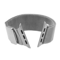 Jual Milan Loop Magnetic Stainless Steel Gelang Jam To Apple Watch 38Mm Perak Sunsky Ori
