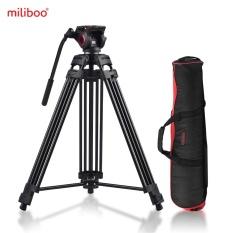 Miliboo MTT601A Fotografi Profesional Aluminium Alloy Tripod Stand 3 Bagian dengan 360� Panorama Fluid Hydraulic Bowl Head Max. Tinggi 153 Cm/5ft Kapasitas Beban 10 Kg untuk Canon Nikon Sony DSLR Kamera Camcorder-Intl