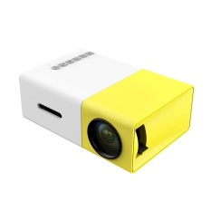 Mingjue (INGGRIS) Multimedia Portable LED Proyektor dengan PC Laptop USB/SD/AV/HDMI Input Pocket Projector untuk Video Movie Game Home Entertainment Projetor dengan Remote Control, Idea For Kids/Anak-anak Hadiah (Kualitas Dijamin) (Kuning Putih)-Intl