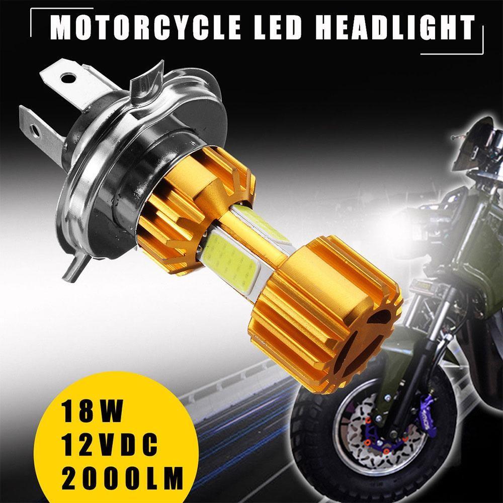 Mingrui Auto MotorH4 Motor Headlight COB LED Hi/Lo Beam Lampu Bulb 2000LM 6000 K Super Terang-Internasional