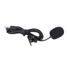 MINI 3.5mm Handsfree MIC Mikrofon Clip On Lavalier Lapel untuk PC Laptop Hitam Hitam 3.5mm- INTL