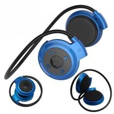 Mini 503 Olahraga Stereo Mini Wireless Bluetooth Headset Earphone Musik Player Komputer Headphone Dengan Microphon Biru Not Specified Diskon 50