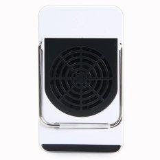 Mini 50 W 220 V Handheld AC Pemanas Electric Warmer Desk Air Fan dengan Anti-Skid Holder (biru) (warna: Sebagai Gambar Pertama)-Intl