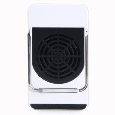 Mini 50 W 220 V Handheld AC Pemanas Listrik WarmerDeskAir Fan dengan Anti-Skid Holder (biru) (warna: Sebagai Gambar Pertama)-Intl