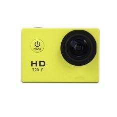 Mini Action Camera, Full HD 720 P 30 M Tahan Air Olahraga DV Camcorder dengan 2 Inch Layar LCD untuk Extreme Outdoor Olahraga Warna: Kuning-Intl