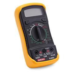 Jual Cepat Mini Backlight Lcd Digital Multimeter Ac Dc Ohm Ammeter Voltmeter Voltage Test Current Tester Black Intl