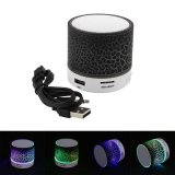 Mini Bluetooth Led Light Speaker W Hands Free Panggilan Tf Card Slot Usb Fm Radio Intl Asli