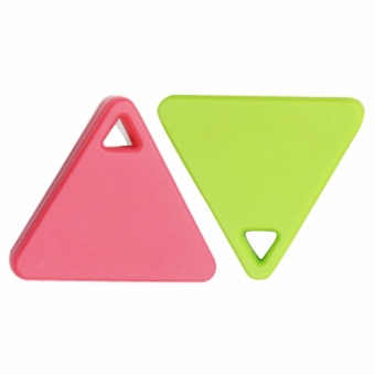 Mini Bluetooth Smart Tag Tracker Pet Pelacakan Anak Key Finder GPS Locator Alarm 2 Pcs (Merah + Hijau) -Intl