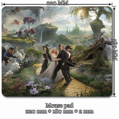 Mini Decroation Mouse Pad Mat for Oz the Great and Powerful (Size: 22cm by 18cm)
