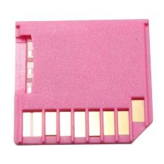 Mini Drive SD Ke Micro Sd SDHC Tf Pembaca Adaptor Kartu untuk Macbook Retina Udara Pro Berwarna Merah Muda-Internasional