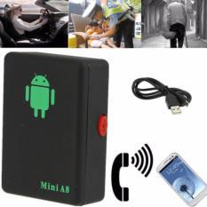 Mini Global Locator A8 Realtime Kendaraan Sepeda Mobil GSM/GPRS/GPS Tracker Pelacakan