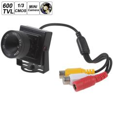 Mini HD 600TVL 1/3 Lensa 12mm Kamera CCTV Warna Video Audio Keamanan CMOS-Intl
