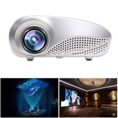 Mini Home Multimedia Cinema LED HD Proyektor Penopang AV TV VGA USB HDMI SD