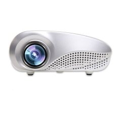 Mini Home Multimedia Cinema LED Proyektor HD 1080 P Dukungan AV TV VGA USB HDMI SD Putih