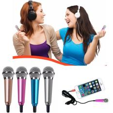 Beli Mini Microphone Wired Sing Karaoke Mic Hp Android Ios Pc Smule Top Nyanyi Ising Kabel Plug Indonesia