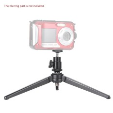 Mini Portable Aluminum Alloy Table Top Tripod with Swivel Ballhead for iphone Samsung LG Smartphones Cellphone Digital Camera Mount Monopod Self-portrait Stick Black - intl