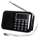Spesifikasi Mini Portable Led Digital Speaker Radio Fm Usb Micro Sd Tf Card Mp3 Musik Player Hitam Intl Murah