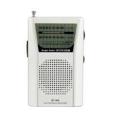 Mini Portable Pocket AM FM Radio Speaker Telescopic Antenna 3 5mm Earphone Jack .