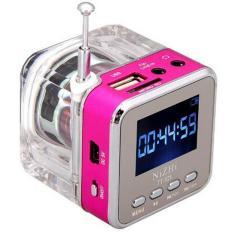 Beli Mini Portable Speaker Dengan Fm Radio Micro Sd Tf Musik Mp3 Player Usb Disk Rose Merah Kredit Tiongkok