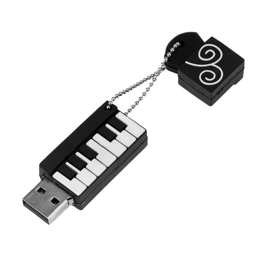 Mini Portable Usb2 Port Piano Shape Silicone Shell Usb Flash Disk Intl Di Tiongkok