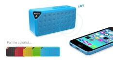 Beli Mini Portable Wireless Bluetooth Speaker Outdoor Kecil Kotak Audio Radio Kartu Cube Subwoofer X3 Biru Cicilan