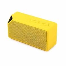 Beli Mini Portable Wireless Bluetooth Speaker Outdoor Small Box Audio Radio Card Cube Subwoofer X3 Yellow Intl Murah
