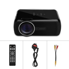 Proyektor Mini 1080 P HD Home Theater dengan HDMI USB SD VGA AV TV Port Hitam UK Plug-Intl