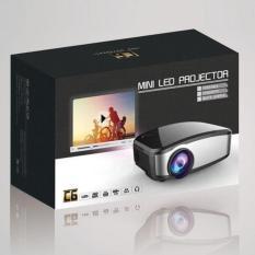 Mini proyektor - cherlux c-6 portable projektor home theater projector murah bagus keluaran terbaru dengan TV tuner kecerahan 1200 lumens resolusi 800 x 480 Cheerlux c6 - Black