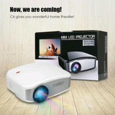 Mini proyektor - cherlux c-6 portable projektor home theater projector murah bagus keluaran terbaru dengan TV tuner kecerahan 1200 lumens resolusi 800 x 480 Cheerlux c6 - WHite