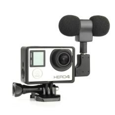 Mini Mikrofon Stereo Standar Bingkai Untuk GOPRO HERO 4 3 + 3 USB untuk 3.5 Mm Kabel Adaptor Mikrofon -Internasional