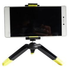 Beli Barang Mini Tripod Dengan Smartphone Holder Hitam Kuning Online