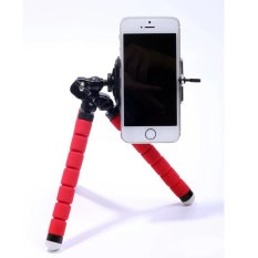 Mini Tripod Kamera Digital Mobile Phone Stand Fleksibel Grip Octopus Bubble Monopod Kaki Fleksibel Kamera Kecil Holder Stand (merah) -Intl