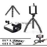 Spek Mini Tripod Flexible Tripod Gorilla Pod Octopus Holder U Hitam Beli 1 Gratis 1 Mini Tripod